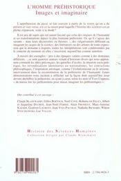 L'Homme Prehistorique ; Images Et Imaginaire - 4ème de couverture - Format classique