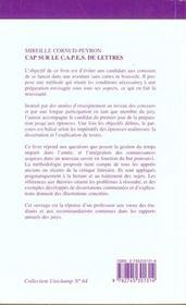 Unichamp T.64 Cap Sur Le Capes De Lettres Dissertation Et Explications De Textes ; Epreuves Sur Dossier - 4ème de couverture - Format classique