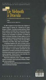 De melmth a dracula - 4ème de couverture - Format classique