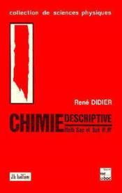 Chimie Descriptive Sup Spe M M' - Couverture - Format classique