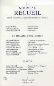 Le Nouveau Receuil N°43 - Le Theatre - Couverture - Format classique