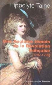 Une anglaise témoin de la révolution française (1792-1795) - Couverture - Format classique