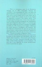 Une anglaise témoin de la révolution française (1792-1795) - 4ème de couverture - Format classique