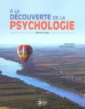 A la découverte de la psychologie - Intérieur - Format classique