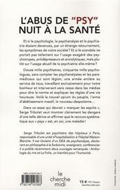 L'abus de psy nuit à la santé - 4ème de couverture - Format classique