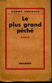 Le Plus Grand Peche. - Couverture - Format classique