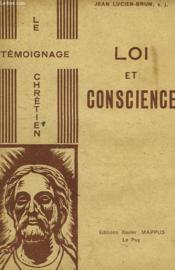 Loi Et Conscience - Couverture - Format classique