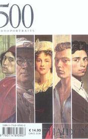 500 autoportraits - 4ème de couverture - Format classique