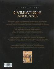 L'Atlas Des Civilisations Anciennes - 4ème de couverture - Format classique