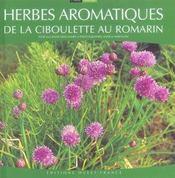 Herbes aromatiques ; de la ciboulette au romarin - Intérieur - Format classique