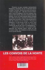 Les convois de la honte enquete sur la sncf et la deportation (1941-1945) - 4ème de couverture - Format classique