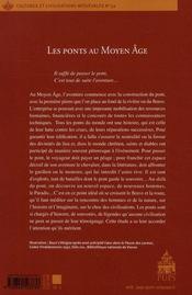 Les ponts au Moyen Âge - 4ème de couverture - Format classique