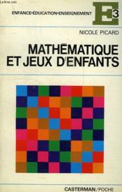 Mathematique Et Jeux D'Enfants - Couverture - Format classique