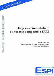 Expertise immobilière et normes comptables IFRS - Couverture - Format classique