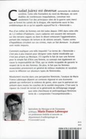 Féminicides et impunité ; le cas de ciudad Juárez - 4ème de couverture - Format classique