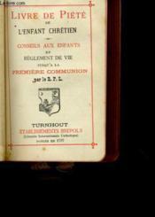 Livre De Piete De L'Enfant Chretien N° 445 - Couverture - Format classique