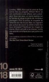 Du sang sur la Tamise - 4ème de couverture - Format classique