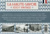 100% VINTAGE ; Haute-Savoie - 4ème de couverture - Format classique