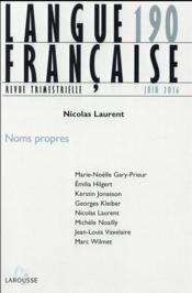 Langue française N.190 ; 2/2016 - Couverture - Format classique