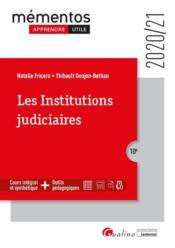 Les institutions judiciaires (édition 2020/2021) - Couverture - Format classique