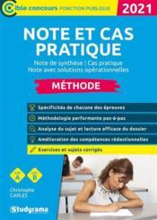 Note et cas pratique (édition 2021) - Couverture - Format classique