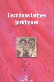 Locutions Latines Juridiques - Intérieur - Format classique