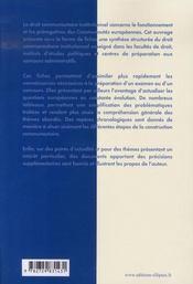 L'union européenne ; fiches - 4ème de couverture - Format classique