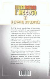 Faites Entrer L'Accuse T.1 ; La Josacine Empoisonnee - 4ème de couverture - Format classique