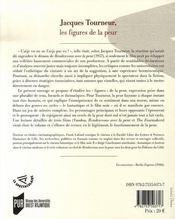 Jacques tourneur, les figures de la peur - 4ème de couverture - Format classique
