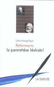 Refermons La Parenthese Liberale - Intérieur - Format classique