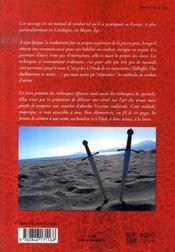 Traité de combat médiéval - 4ème de couverture - Format classique