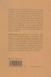 Jardin sous le givre - 4ème de couverture - Format classique