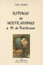 Reponse nostradamus fontbrune - Couverture - Format classique