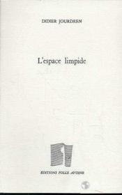 Espace Limpide (L') - Couverture - Format classique