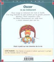 Oscar va au restaurant - 4ème de couverture - Format classique