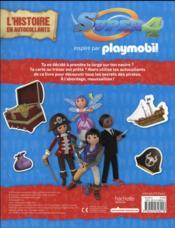 Playmobil Super 4 ; l'histoire en autocollants ; les pirates - 4ème de couverture - Format classique