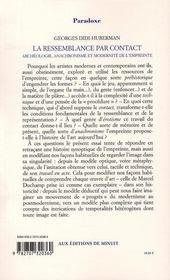 La ressemblance par contact ; archéologie, anachronisme et modernité de l'empreinte - 4ème de couverture - Format classique