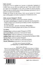 Dossier espagnol 2020-21 : Cortazar, Rayuela ; Emilia Pardo Bazan, la tribuna ; Alvar Núñez Cabeza de Vaca, Naufragios ; José Luis Guerin, En construcción - 4ème de couverture - Format classique