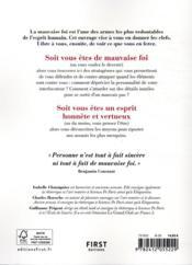 Petit manuel de la mauvaise foi - 4ème de couverture - Format classique