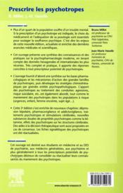 Prescrire les psychotropes (3e édition) - 4ème de couverture - Format classique
