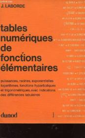 Tables Numerique - Couverture - Format classique