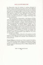 Nous, On N En Parle Pas. Vivants Et Morts Chez Manouches. 13 - 4ème de couverture - Format classique