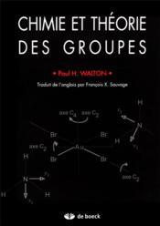 Chimie et théorie des groupes - Couverture - Format classique