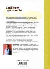 Cuillères gourmandes - 4ème de couverture - Format classique
