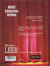 Histoires de rire - 4ème de couverture - Format classique
