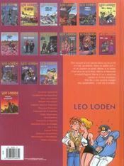 Léo Loden T.16 ; froide vendange - 4ème de couverture - Format classique