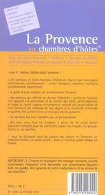 *La Provence Cham Hot 2006* (édition 2006) - 4ème de couverture - Format classique