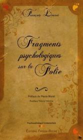 Fragments psychologiques sur la folie - Couverture - Format classique