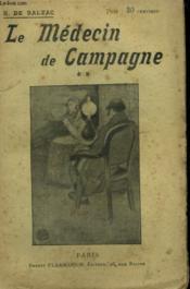 Le Medecin De Campagne. Tome 2. Collection : Oeuvres De Balzac. - Couverture - Format classique