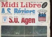 Midi Libre - As Beziers - S.U Agen - Couverture - Format classique